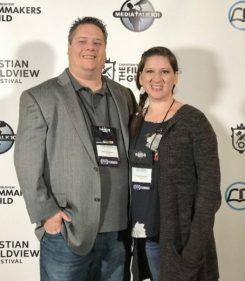 Garritt and Yvette Hampton at the Christian Worldview Film Festival