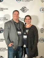Garritt and Yvette Hampton at the Christian Worldview Film Festival