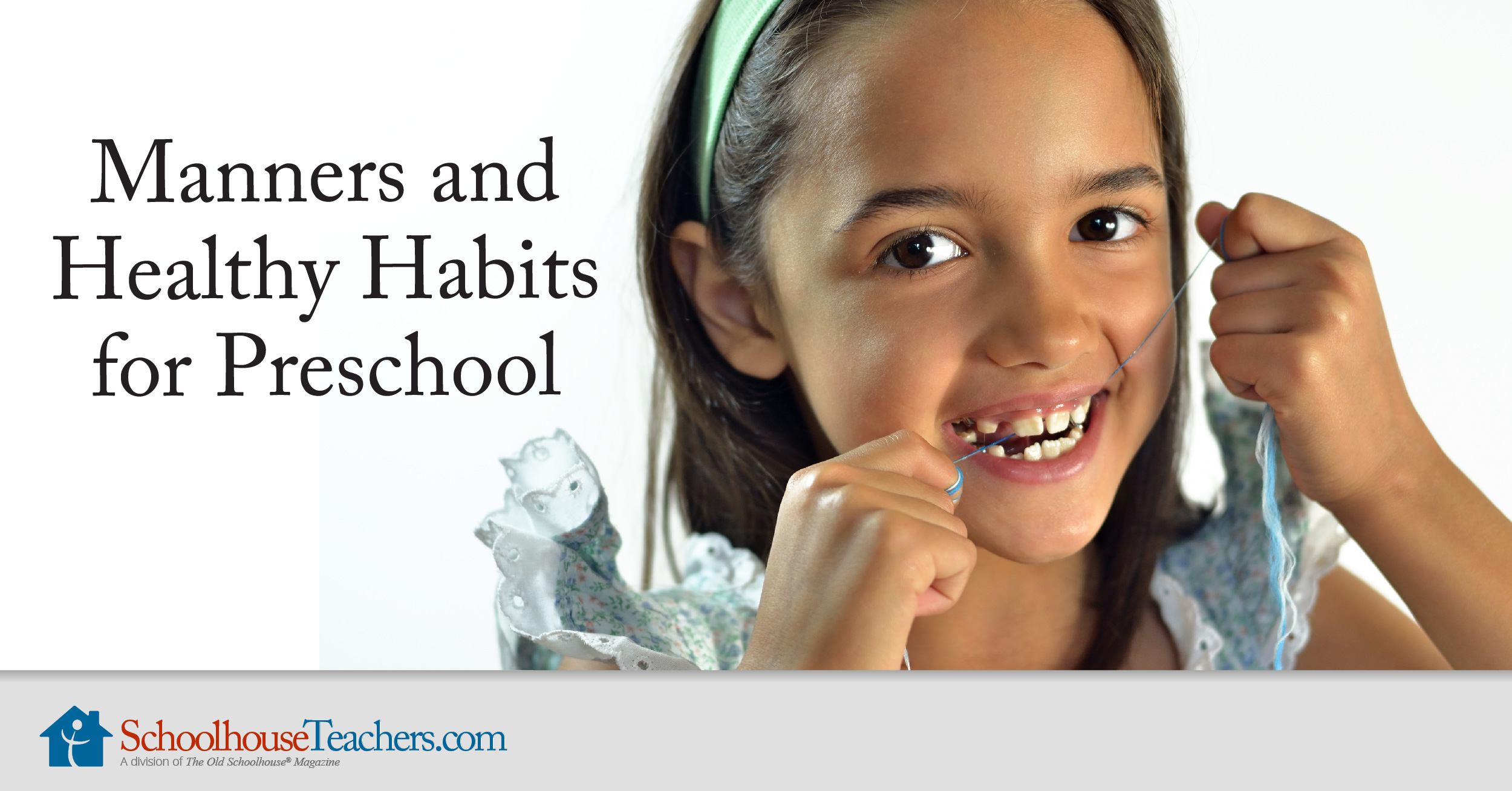 Manners And Healthy Habits For Preschool Homeschool Course