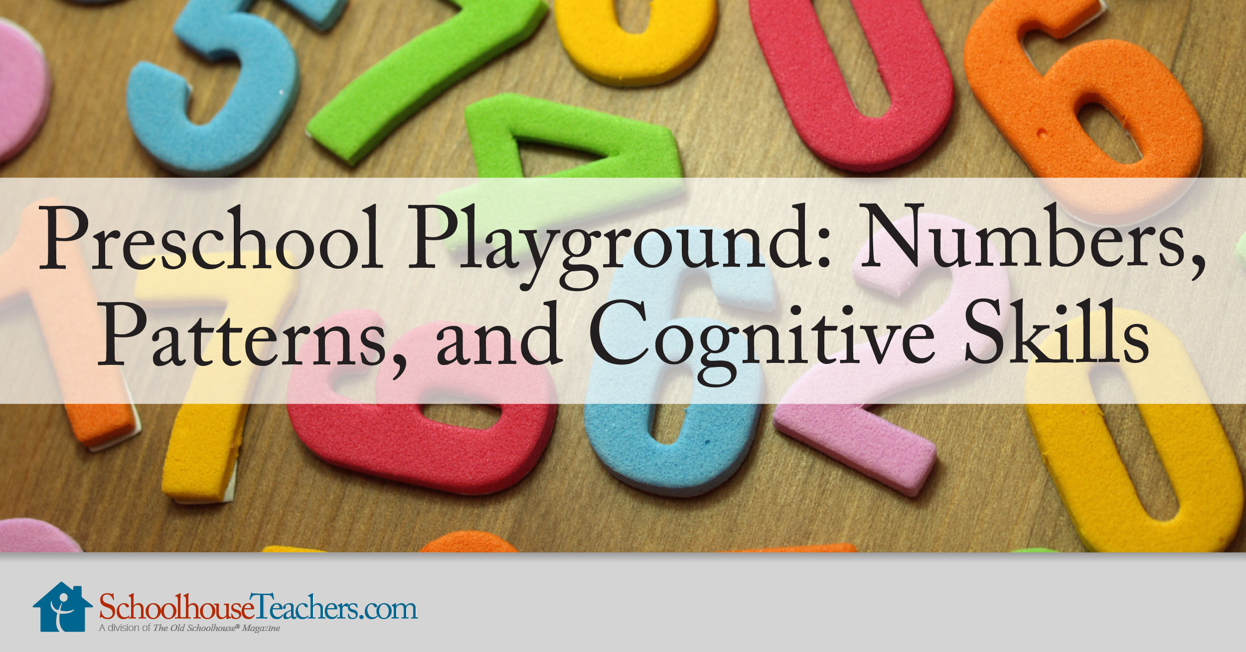 Preschool Playground Numbers Patterns And Cognitive