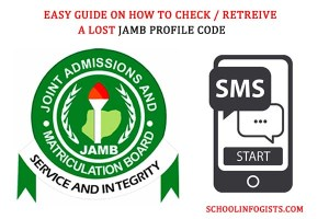 how to retrieve a lost jamb profile code from schoolinfogists