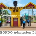 ACEONDO Admission List