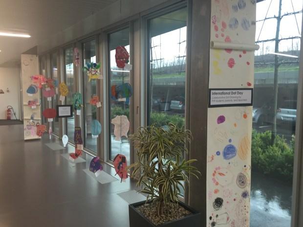 Exhibits of children's work in Gems' hall
