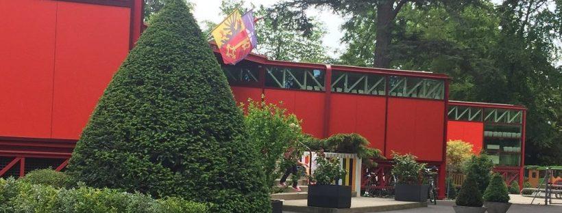 Entrance to Pregny School, Campus des Nations, Ecole Internationale