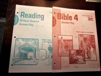 Christian Light Reading Answer Keys-new