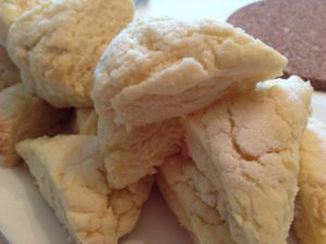 Scones with sweet butter and Greaves jams