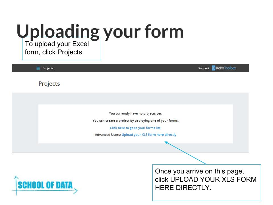 Uploading And Testing Your Forms Using Kobo Toolbox | School Of