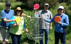 After two hours of introductory lessons, these two retired couples plan to take up disc golf as a primary outdoor activity.