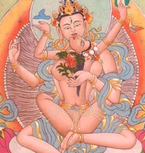 Yab Yum Thangka Orange