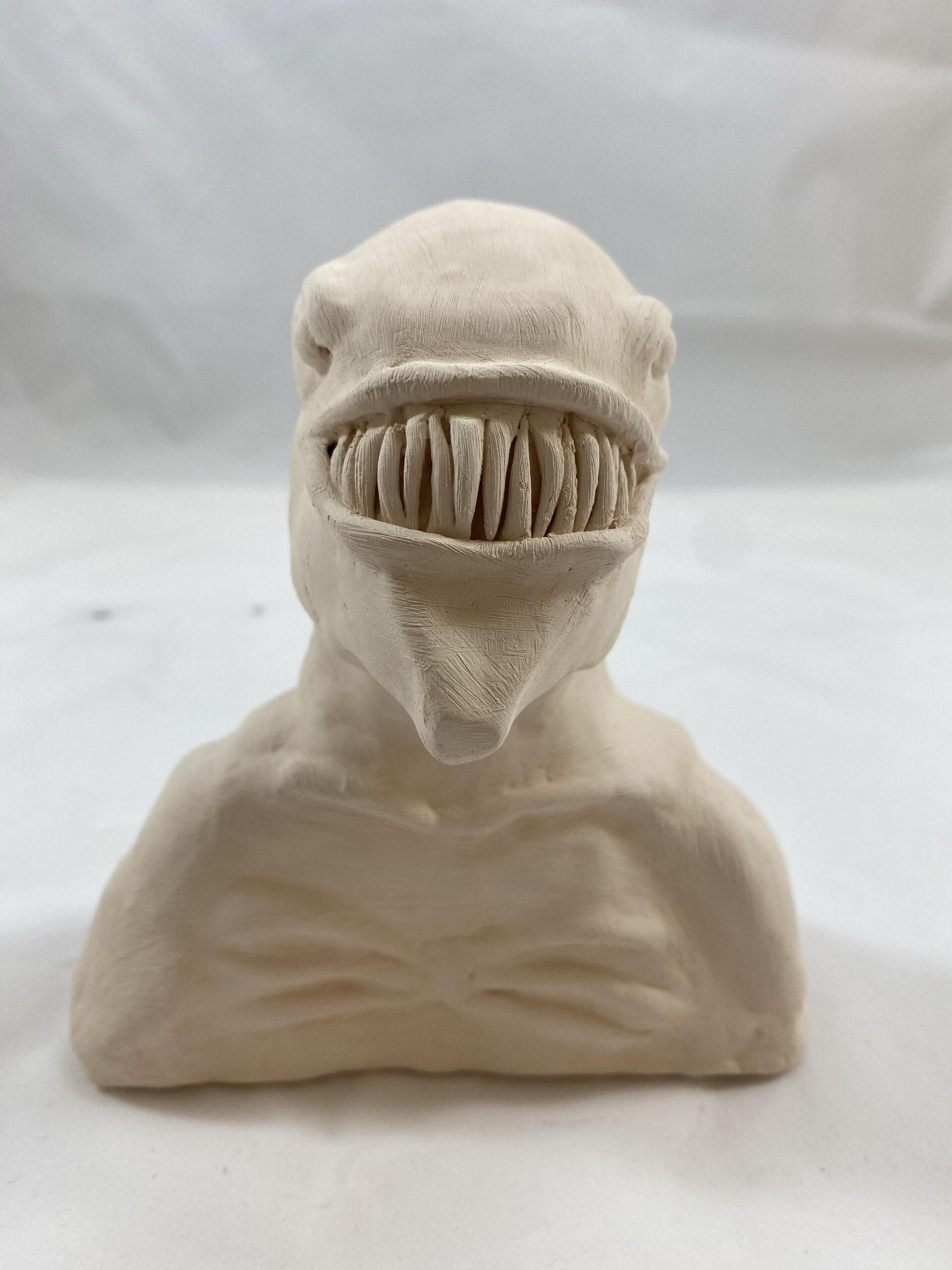 front alien sculpture