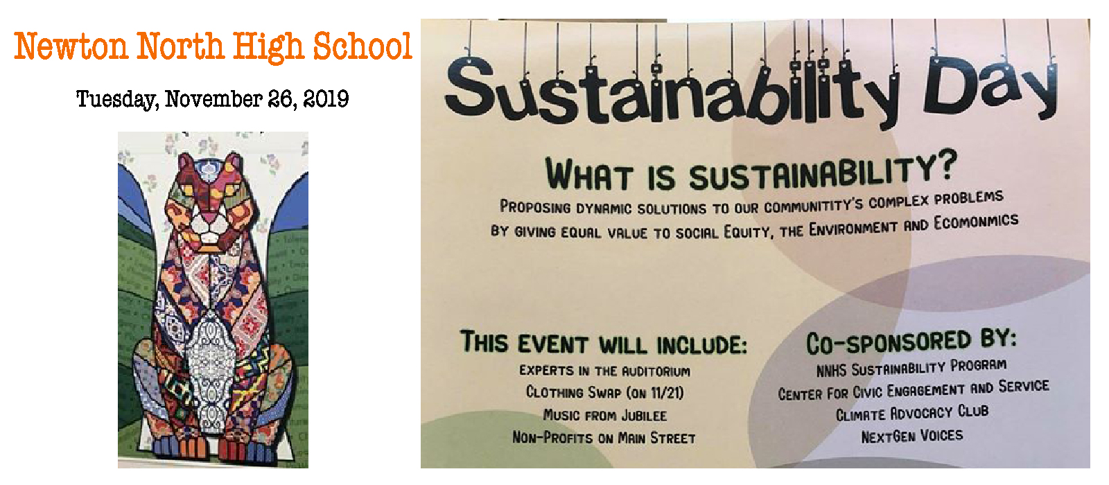 Newton North Sustainability Day 2019