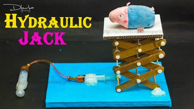 School Science Projects Hydraulic Jack - School Science