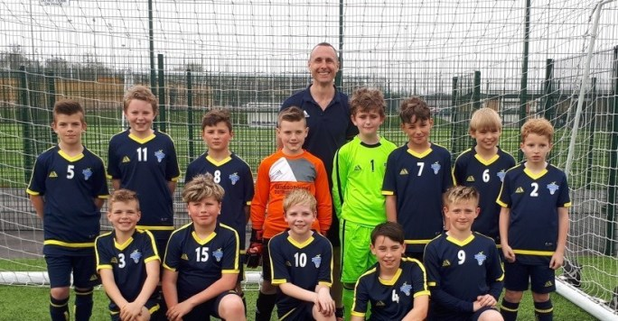 John Anderson with the Gainsborugh Boys Team