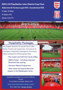 U15 Inter District Final Hospitality Ad