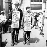 Unemployed men seeking work