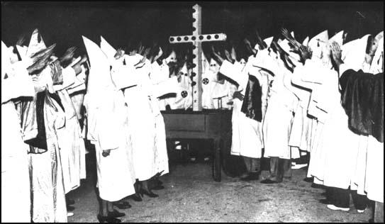 Ku Klux Klan members in the 1920's