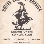 Ku Klux Klan advert from the 1960's