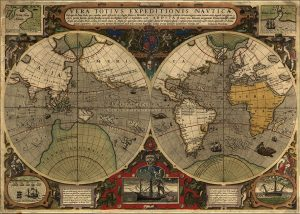 Voyages of Discovery: Map of Drake's circumnavigation of the world. Image from Wikimedia commons