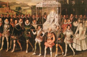 Procession in Elizabethan England. Such displays were regularly used in English society