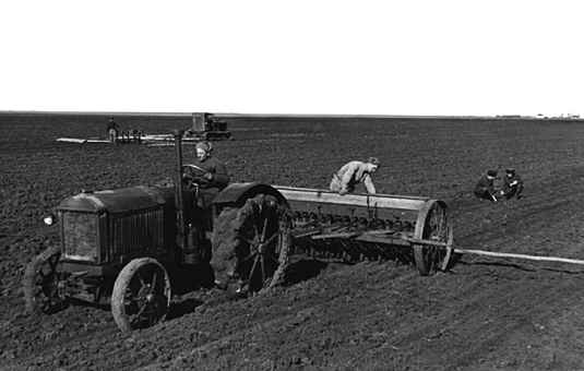 Tractor on a Collective Farm