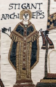 Stigand appears in the Bayeux Tapestry