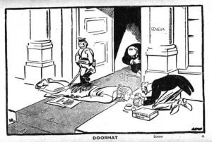 League of Nations cartoon in response to the Manchurian Crisis