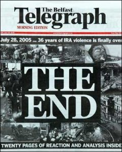 The Ira formally ended it's paramilitary campaign in 2005, 7 years after the Good Friday Agreement
