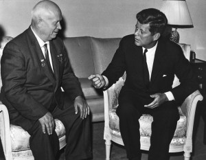 Kennedy and Khrushchev meeting in 1961