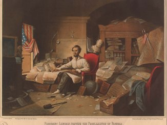 Abraham Lincoln Writing the Emancipation Proclamation - Image Analysis