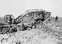 British tank used at the Battle of the Somme in September 1916