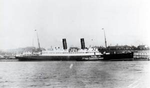 RMS Laconia, sunk by torpedo's on 25th February 1917