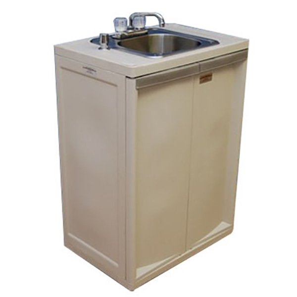 portable sink with plastic cabinet 6 d basin