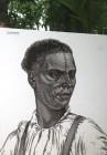 Portrait d'un esclave originaire du Mozambique, portant des scarifications rituelles.
