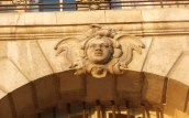 """photo mascaron à """"tête de nègre"""", place de la Bourse à Bordeaux"""