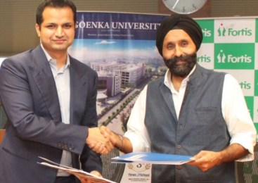 Fortis Healthcare signs MoU with GD Goenka University for Academic Training & Research