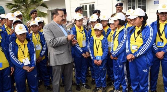 Group of children from Sikkim called on DoNER MinisterDr Jitendra
