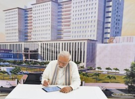 PM Modi Unveils Super- Speciality Vallabhbhai Patel Institute of Medical Sciences and Research in Ahmedabad