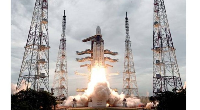 GSLV MkIII-M1 Successfully Launches Chandrayaan-2 Spacecraft
