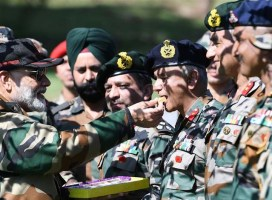 PM celebrates Diwali with the bravehearts on the border in J&K