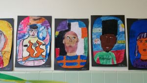 I loved that student art and writing filled the halls.