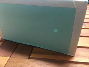 3.光センサーの上に画用紙をおいても、こんな感じで光を通すので光センサーが反応する