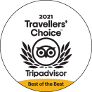 2021 Travellers' Choice Best of the Best badge