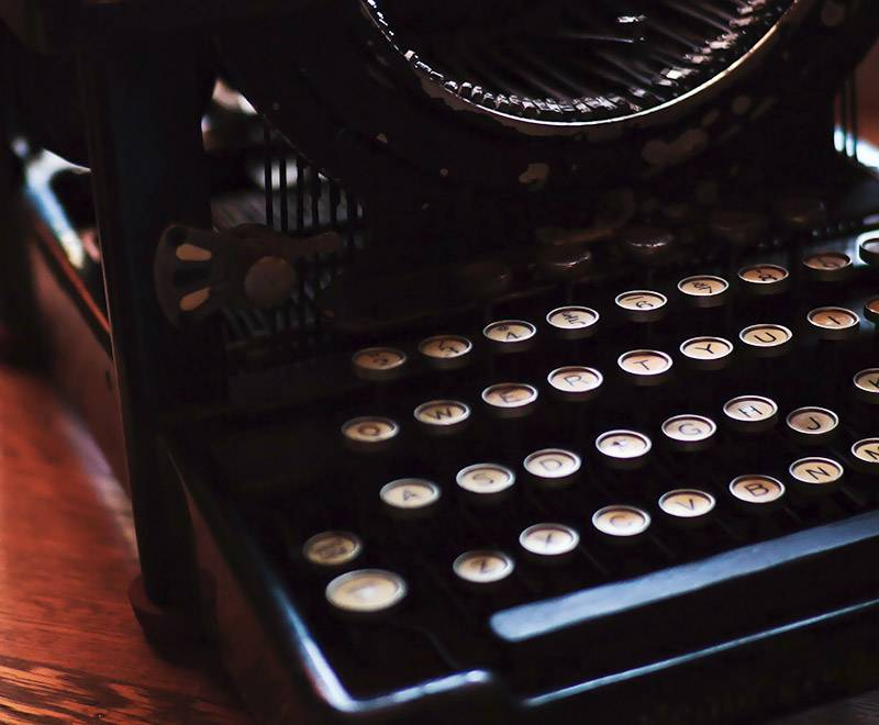 Antique Blog typewriter at Schoone Oordt Country House in Swellendam