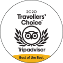 2020 Best of the Best Travellers' Choice badge award