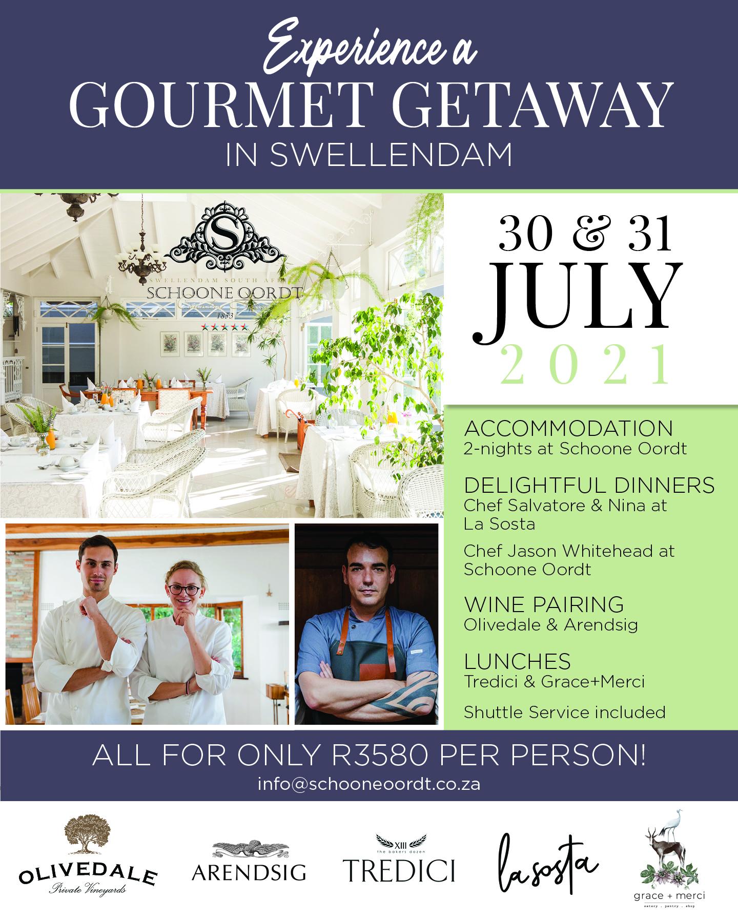 Gourmet Getaway Swellendam