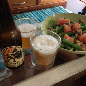 Courage blonde ale - A beer fit for a salad.