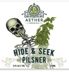 Hide & Seek Pilsner by Aether Brewing