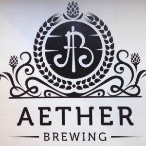 Aether Brewing logo.