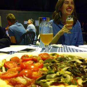 Pizza, beer, and @beergirlworld