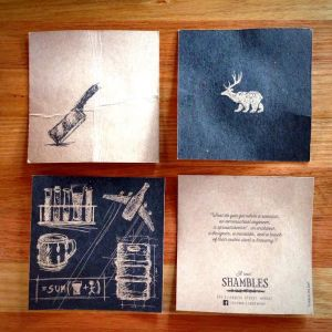 Shambles coasters - collect them all!